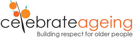 Picture of Celebrate Aging logo and text says Building respect for older people